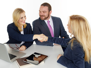 Business people are highly successful