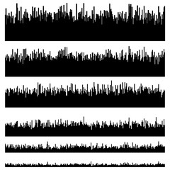 Eq / equalizer element templates. Set of 6 version. Music, sound