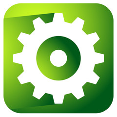 Gearwheel, rack wheel, gear icon, sign. Service, development, ma