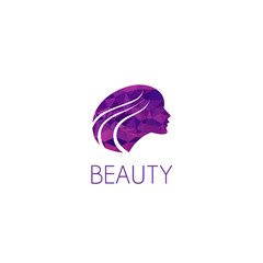 girl logo graphic design concept