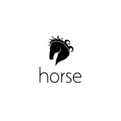 horse logo graphic design concept