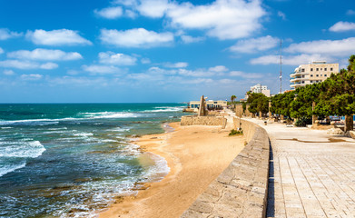 Seaside promenade in Acre - Israel
