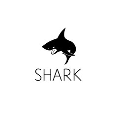 shark logo graphic design concept