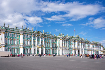 State Hermitage museum and square, St Petersburg, Russia
