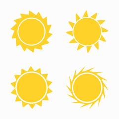 Sun icons and symbols set
