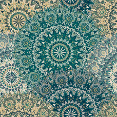Mandala seamless pattern. Vintage design for printing.