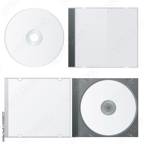 """Blank Case and Disk. Cd Packaging Template. Vector ..."