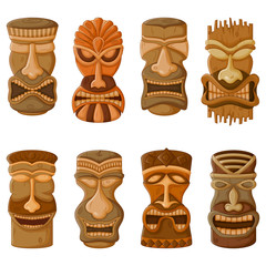 Hawaiian Tiki tribal mask