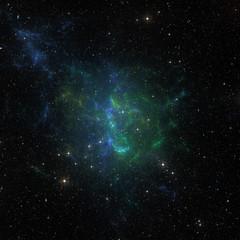 Stars nebula in space.