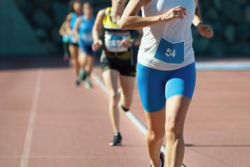 Athletics people running on the athletics track
