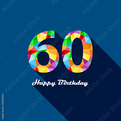 HAPPY 60th BIRTHDAY Card