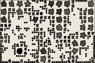 Abstract background full of stars and round shapes confetti