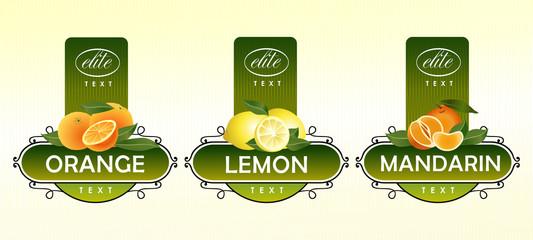 Citrus fruits. Orange, lemon, mandarin
