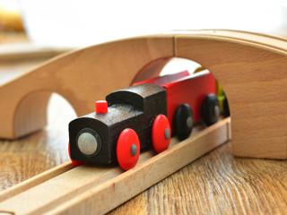 toy wooden steam locomotive
