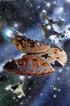 spaceship battle cruiser assault