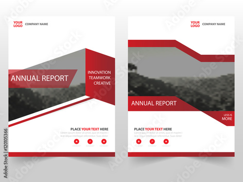 red triangle vector business proposal leaflet brochure flyer