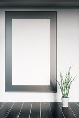 Light interior with picture frame