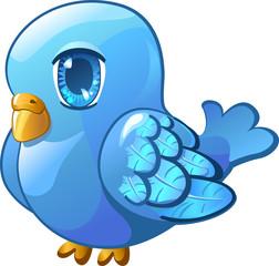 Little blue bird.
