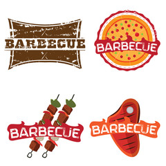 Set of barbecue illustrations