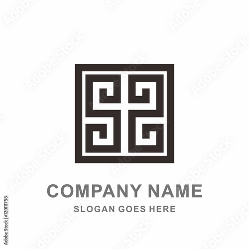 Monogram letter s geometric square reflection decoration line monogram letter s geometric square reflection decoration line vector logo design template pronofoot35fo Images