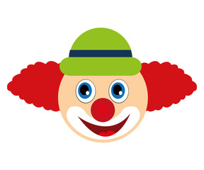 jester joker character isolated icon vector illustration design