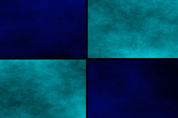 Black background with dark blue and cyan rectangels
