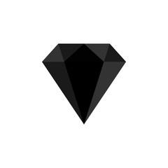 Diamond icon. Vector Illustration. Shiny crystal sign. Brilliant stone. Optical illusion 3D .Fashion modern design. Flat element. Symbol gift, jewel, gem or royal, rich.