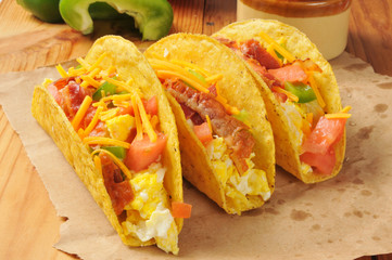 Fresh breakfast tacos