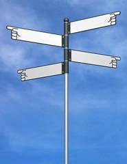 3D Blank signpost