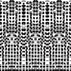 Vector hand-drawn seamless pattern with abstract urban ornament.