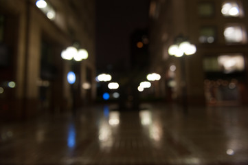 De focused/Blurred image of lights. Blur lights. Light bokeh.