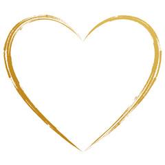 Herz Gold Handzeichnung