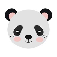 panda bear animal character cute cartoon vector illustration