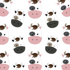 cow animal character cute cartoon background. vector illustration
