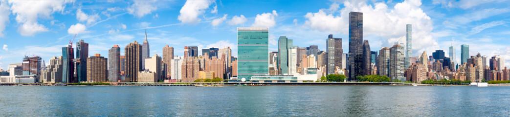 Panoramic image of midtown New York City