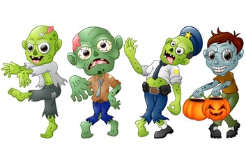 Zombie cartoon Halloween costumes