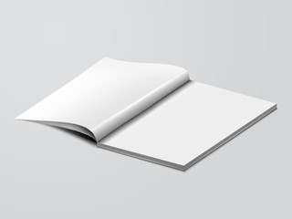 blank mock up opened book template