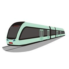 Illustration of a modern public transport light rail train in Changchun, China