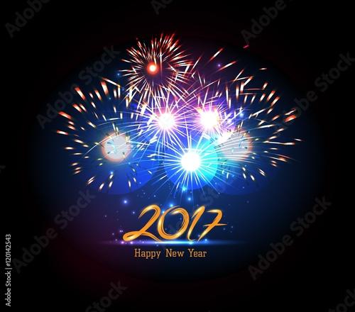 Happy New Year 2017 Firework Stockfotos Und Lizenzfreie Vektoren