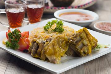 lamb mandi, popular arab rice