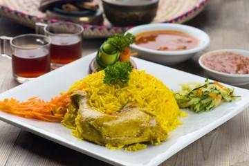 chicken mandi, popular arab rice