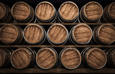 winemaking barrel 3d illustration