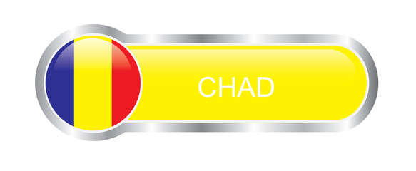 Chad flag glossy banner