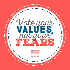 Do your research. Typographic quote about the importance of voting