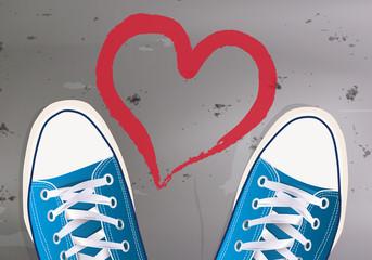 Adolescent - Amour coeur craie