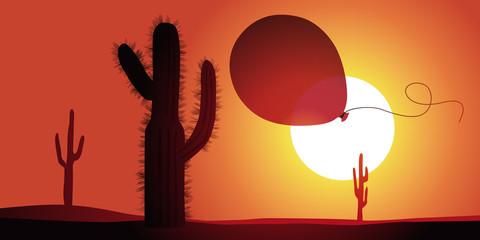 Cactus - Ballon de baudruche