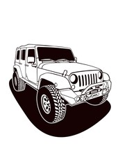 Jeep Vector Line Art