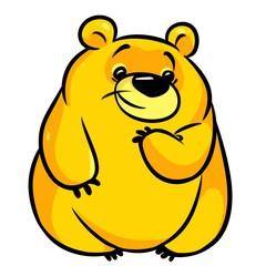 Yellow big bear cartoon illustration isolated image animal character
