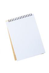 Opened notepad  on white background