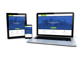 fresh and modern responsive design concept